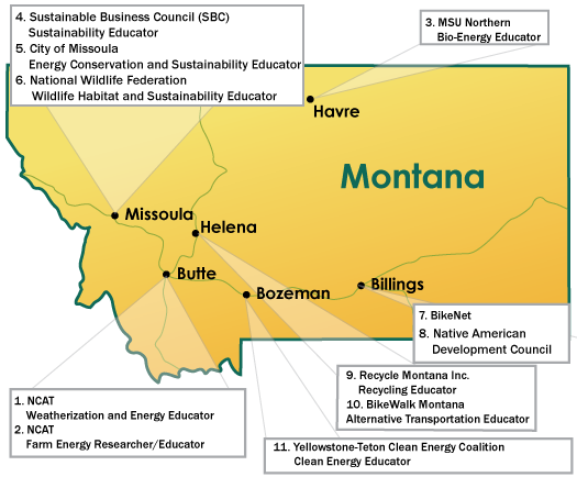 Map of Montana Locations