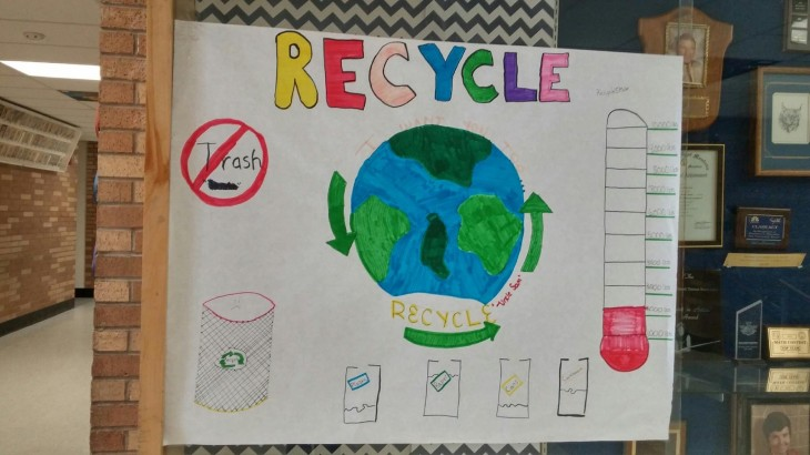 A recycling poster from a SMART school participant demonstrating their progress thus far