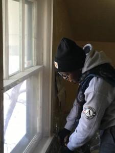 Kamene installing window plastic