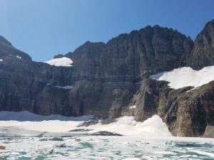 Climate Change in action: Grinnell Glacier, now technically Grinnell Snow Field because it has lost too much mass.